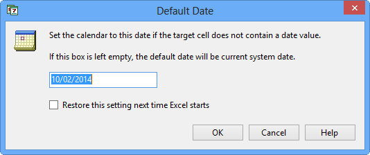 Set a default date for the date picker