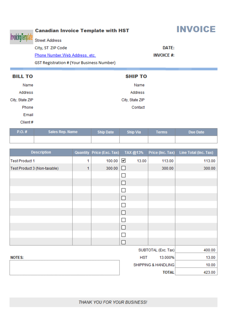 Auto Repair Invoice Template  Free download and software