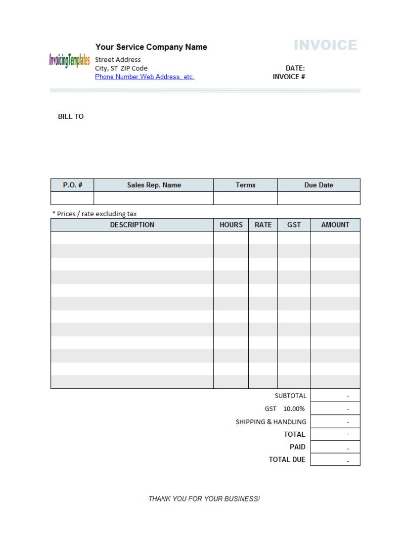 tax invoice template .