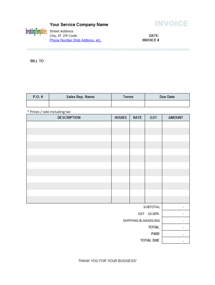 photo : abn invoice template images, Invoice examples