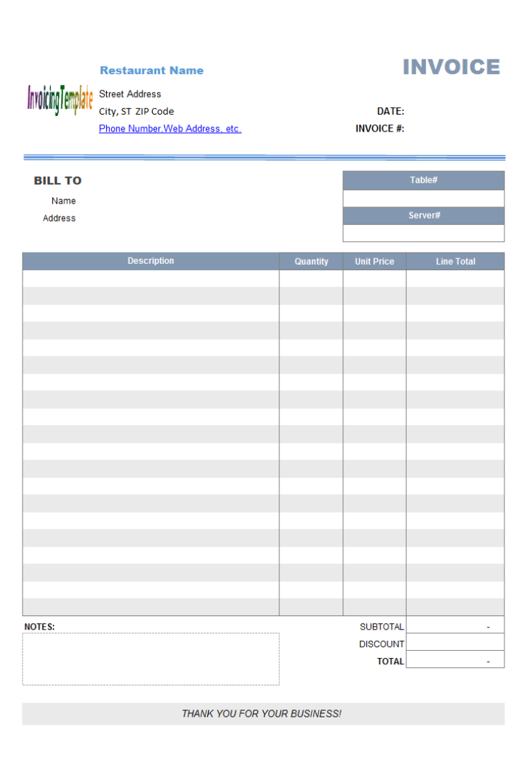 web design receipt template