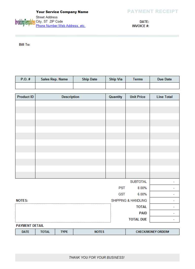 Example Of Invoice For Services Rendered neilsafenet – Services Rendered Invoice Template