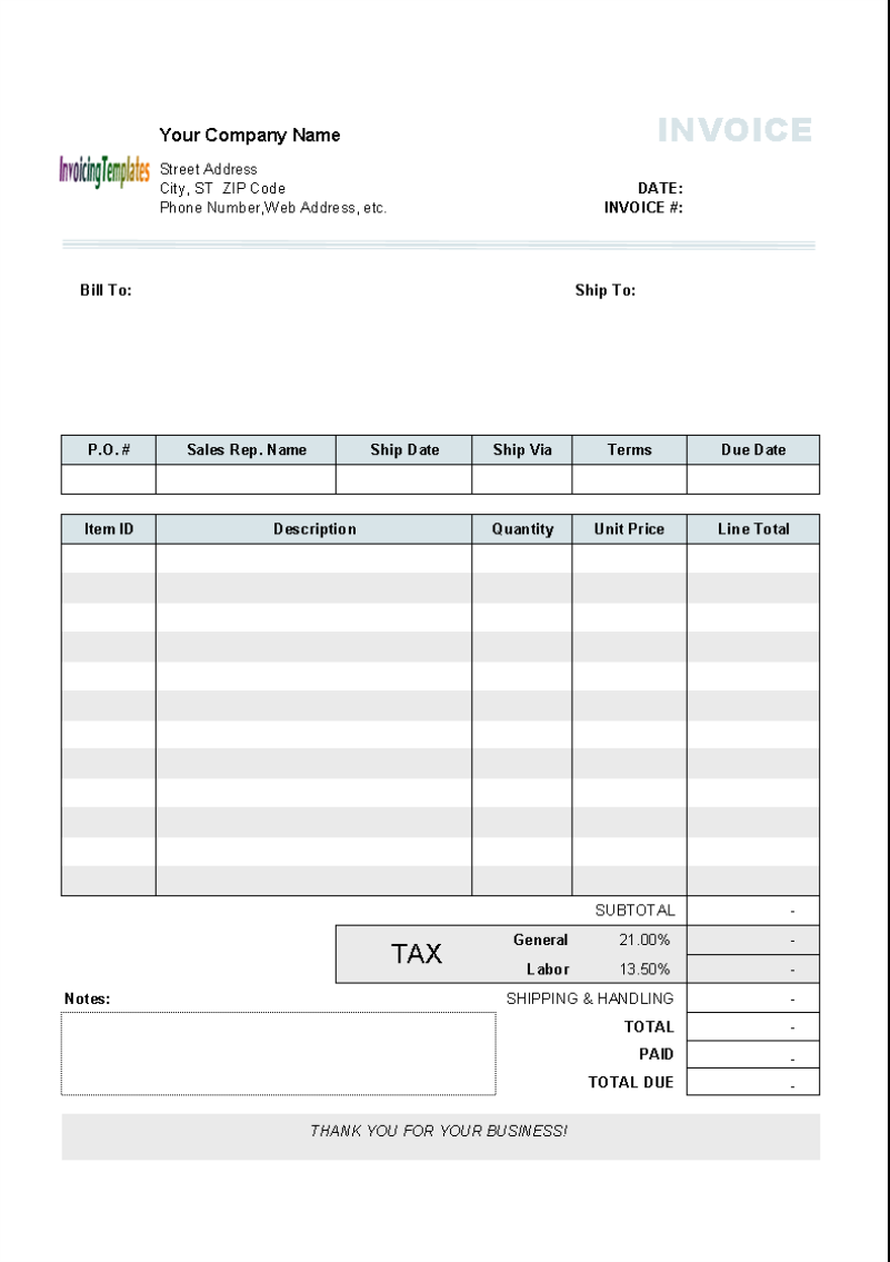 Tax Invoice Example 10 Results Found Uniform Invoice