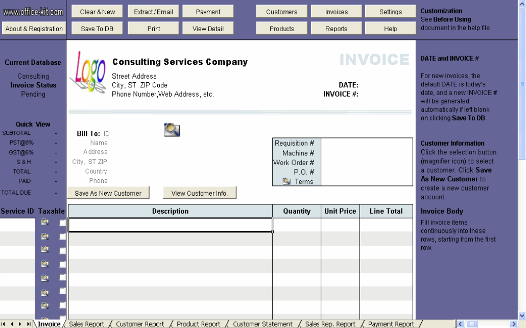 Contractor Invoice Template sehadetvakti – Construction Invoice Template