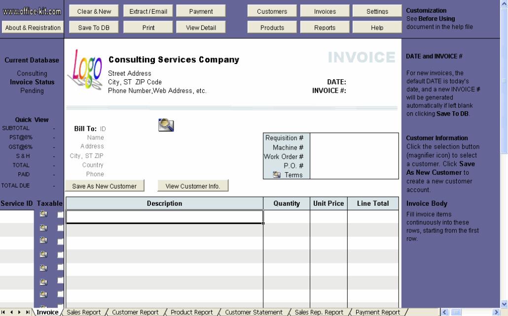 contractor invoice template .