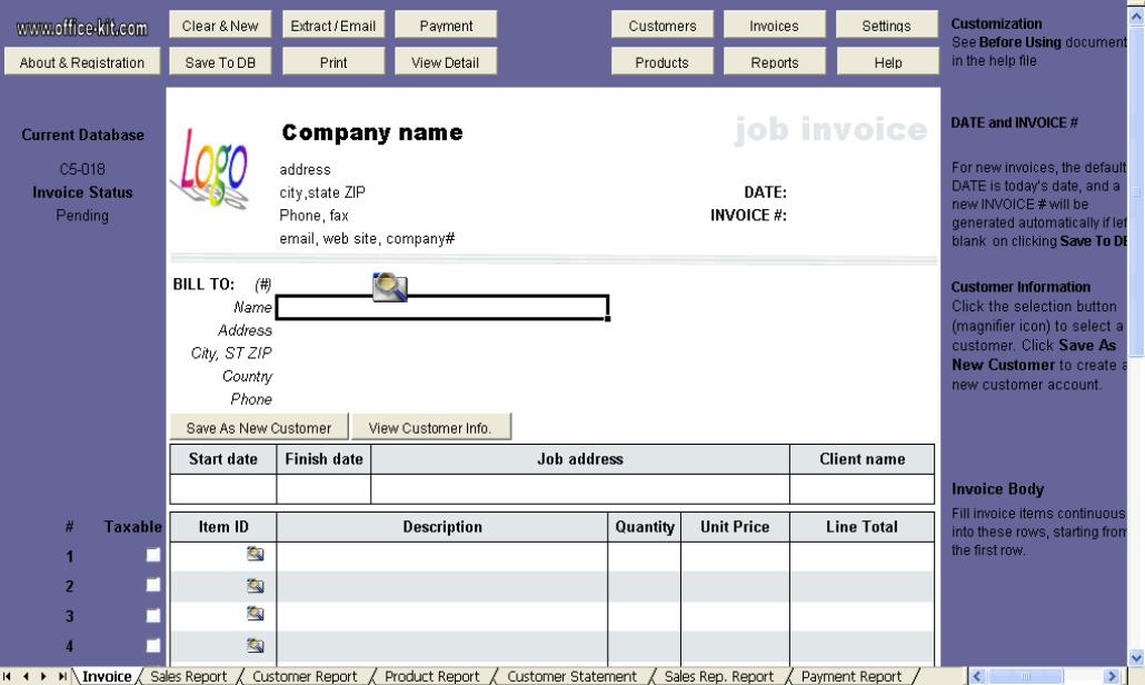 Labor Invoice Template – Labor Invoice Template Free