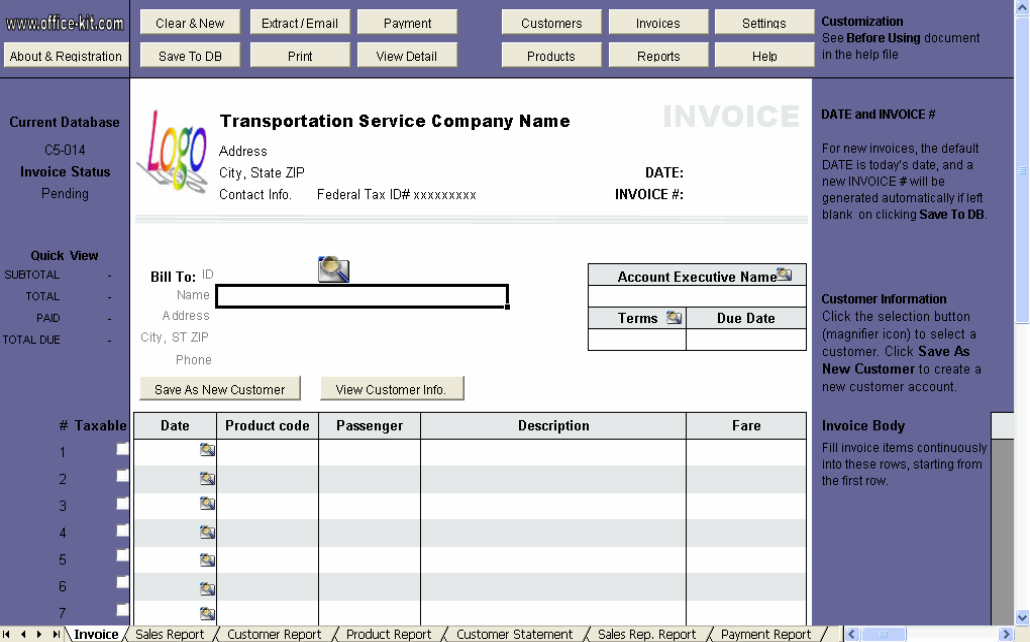 printable service invoice template .