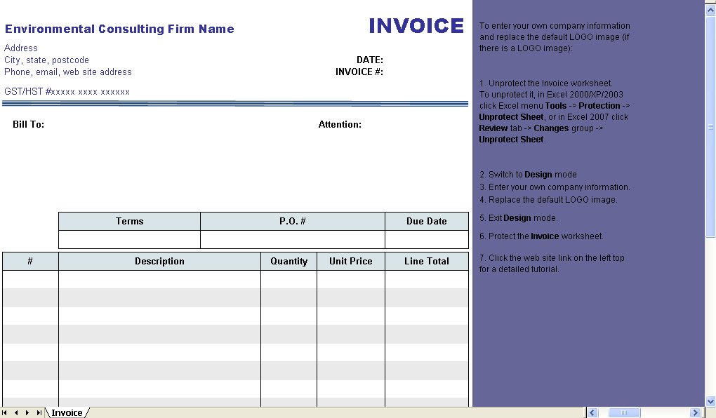Environmental Consulting Form - freeware edition