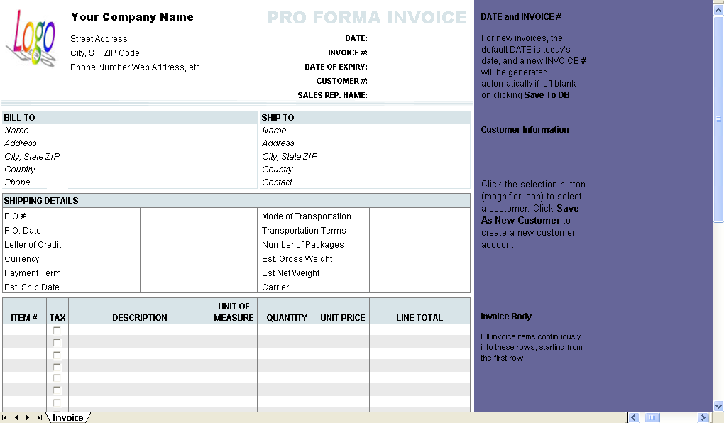 is a proforma invoice a tax invoice