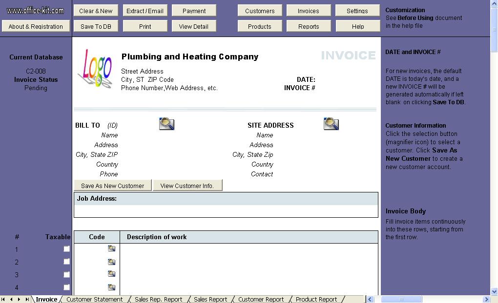 plumbing invoice template .