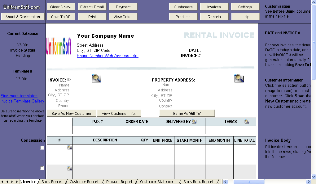 Rent Invoice Format In Excel