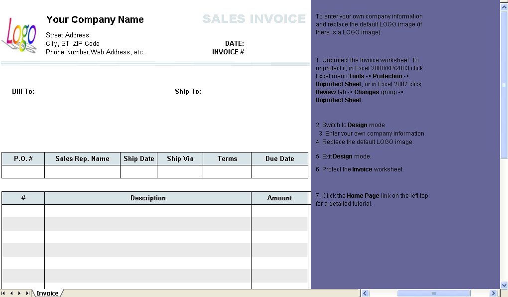 Sales Invoice 3 Columns 2 Taxes Uniform Invoice Software
