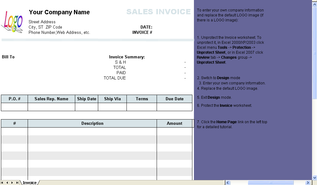 total invoice
