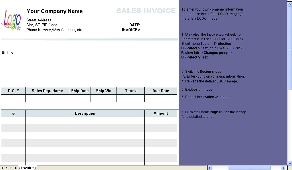 Sales Invoice Columns Without Shipping Uniform Invoice Software - Sales invoice template excel best online dress stores