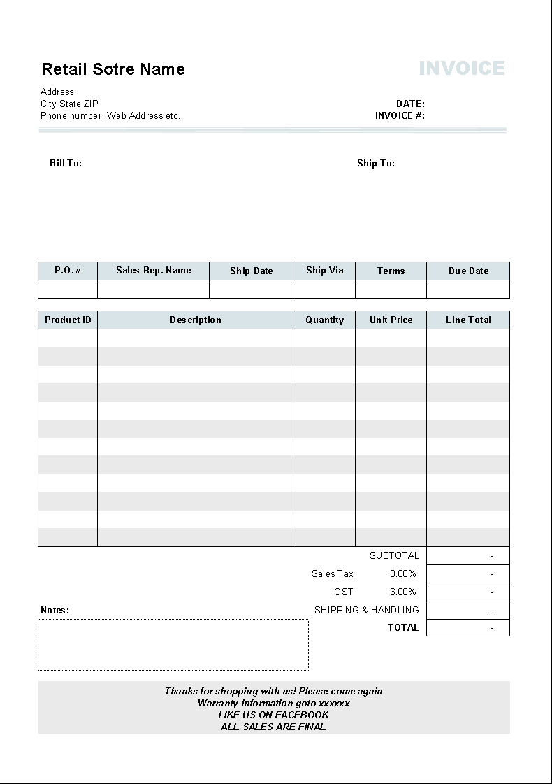 rental invoice template for uniform invoice software template change calculation